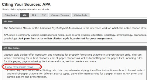 Help how do i cite websites in apa empire state colleges in the menu on the style guide from owl you want to select reference list electronic sources ccuart Choice Image