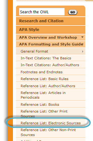 Help how do i cite websites in apa empire state colleges now you want to scroll through the options on this page to find how to cite websites webpages or parts of a webpage in the apa style guide this is under ccuart Choice Image